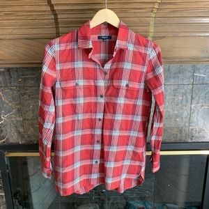 Madewell XS Red Plaid Button Down